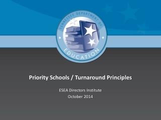 Priority Schools / Turnaround Principles