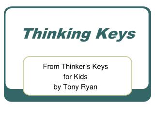 Thinking Keys