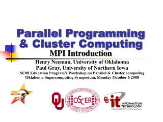 Parallel Programming  Cluster Computing MPI Introduction