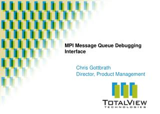 MPI Message Queue Debugging Interface