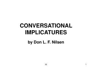 CONVERSATIONAL IMPLICATURES