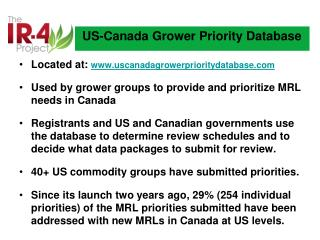 US-Canada Grower Priority Database