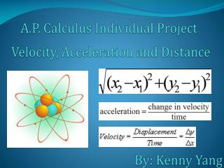 Velocity, Acceleration and Distance