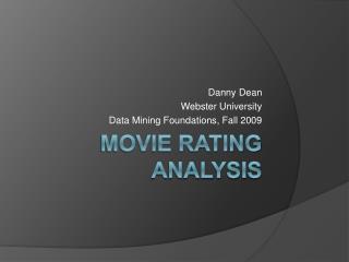 Movie Rating Analysis