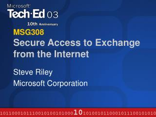 MSG308 Secure Access to Exchange from the Internet