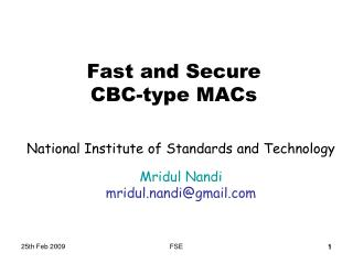 Fast and Secure  CBC-type MACs
