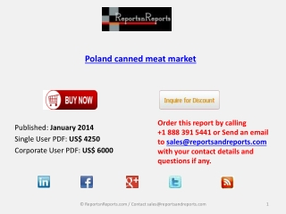 Poland canned meat Industry Analysis, Overview, Forecast by