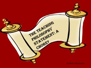 The Teaching Philosophy Statement: A Chore?