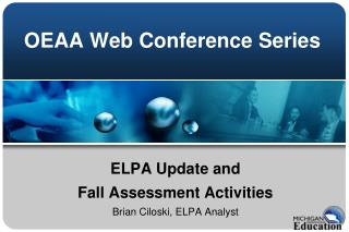 OEAA Web Conference Series