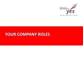 YOUR COMPANY ROLES