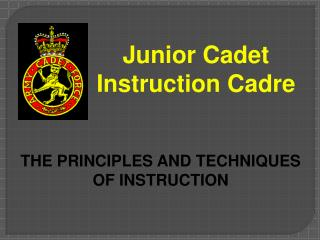Junior Cadet Instruction Cadre