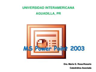 MS Power Point 2003