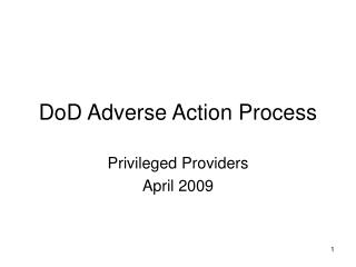 DoD Adverse Action Process