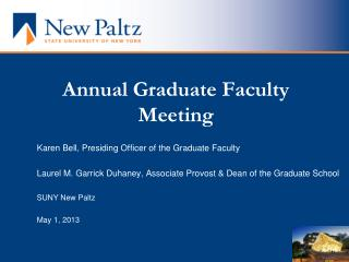 Annual Graduate Faculty Meeting