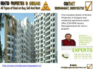 Rented Properties in Gurgaon
