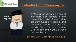 Bad Credit-3 Months Loan Uk