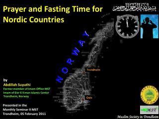 Prayer and Fasting Time for  Nordic Countries