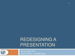 Redesigning a Presentation