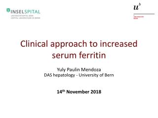 Clinical approach to increased serum ferritin