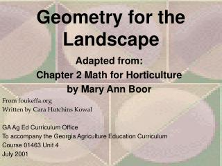 Geometry for the Landscape