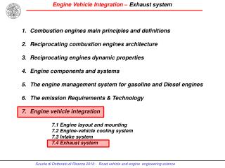 Combustion engines main principles and definitions Reciprocating combustion engines architecture Reciprocating engine