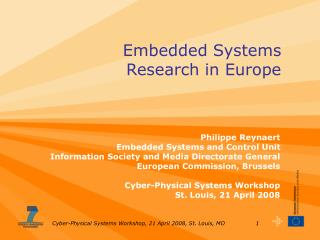 Embedded Systems  Research in Europe