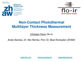Non-Contact Photothermal Multilayer Thickness Measurement