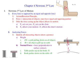 Chapter 4 Newtons 3 rd Law
