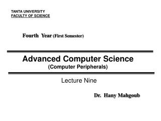 Advanced Computer Science (Computer Peripherals)