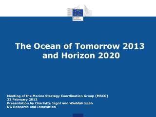 The Ocean of Tomorrow 2013 and Horizon 2020