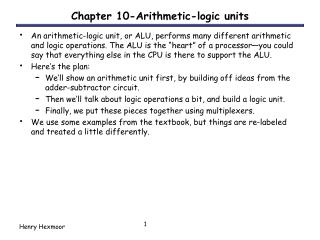 Chapter 10-Arithmetic-logic units