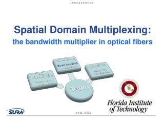 Spatial Domain Multiplexing: the bandwidth multiplier in optical fibers