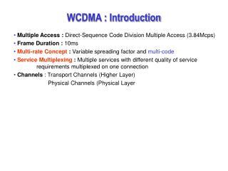 WCDMA : Introduction