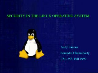 SECURITY IN THE LINUX OPERATING SYSTEM