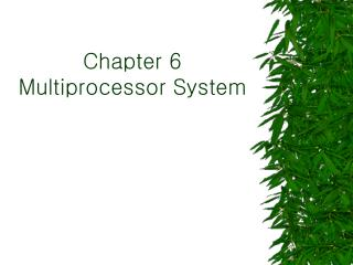 Chapter 6 Multiprocessor System