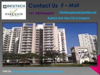 Bestech Park View City in Gurgaon | Bestech Projects Gurgaon