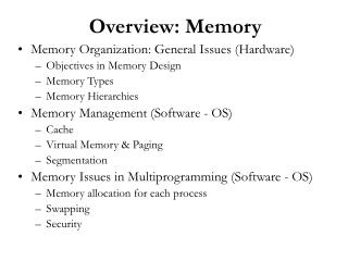 Overview: Memory