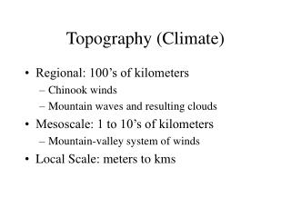 Topography (Climate)