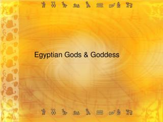Egyptian Gods  Goddess