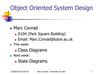 Object Oriented System Design