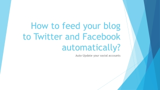 How to publish RSS to Twitter and Facebook
