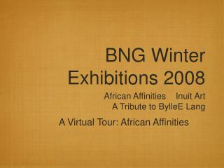 BNG Winter Exhibitions 2008