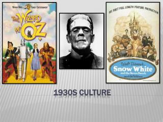 1930s Culture