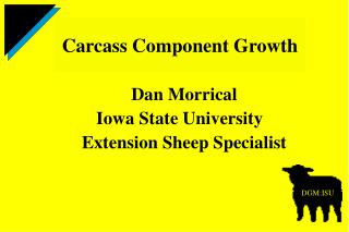 Dan Morrical Iowa State University Extension Sheep Specialist