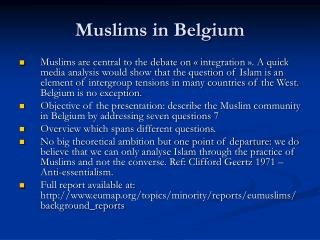 Muslims in Belgium