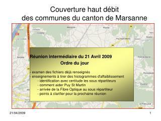 Couverture haut débit des communes du canton de Marsanne