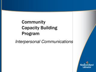 Community  Capacity Building Program