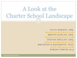 A Look at the  Charter School Landscape