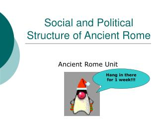 Social and Political Structure of Ancient Rome