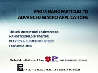FROM NANOPARTICLES  TO  ADVANCED  MACRO  APPLICATIONS